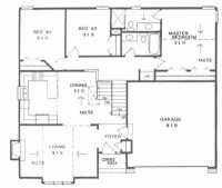 Plan #1246 - front to back split level home