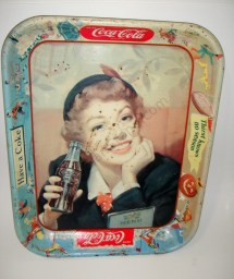 Vintage 1960s Coca Cola Advertising Tray Refreshed - Year of Clean Water