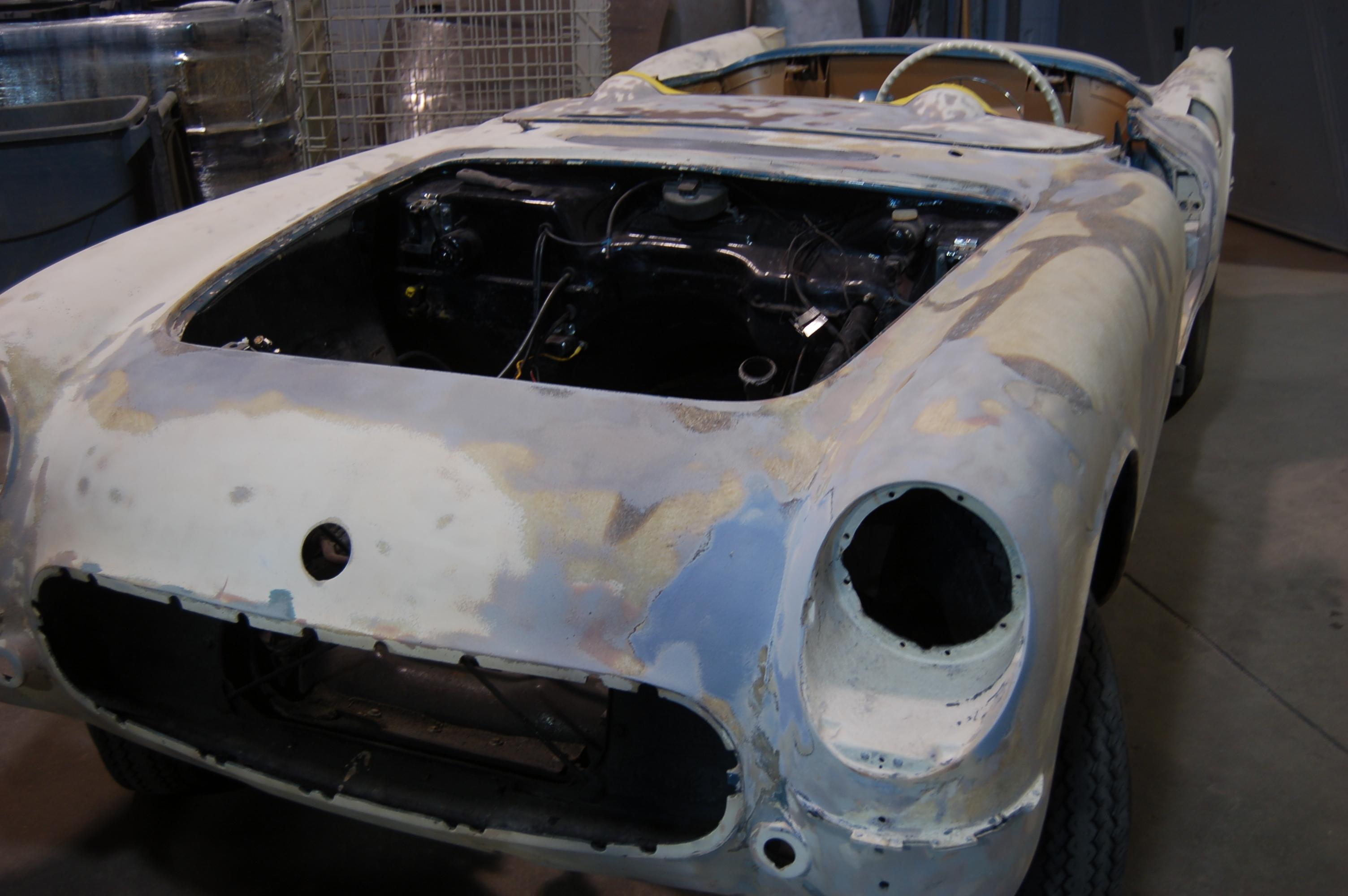 American Dry Stripping Blast 1954 Corvette