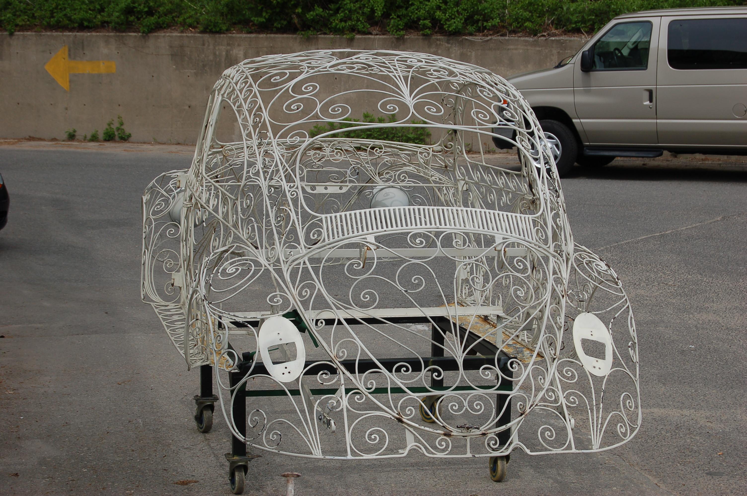 Wrought Iron VW Beetle Rear_American Dry Stripping Wedding Car
