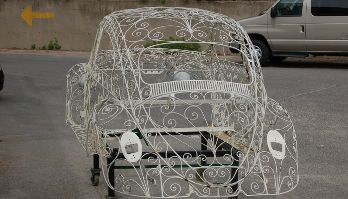 Wrought Iron VW Beetle Rear_American Dry Stripping Wedding Car
