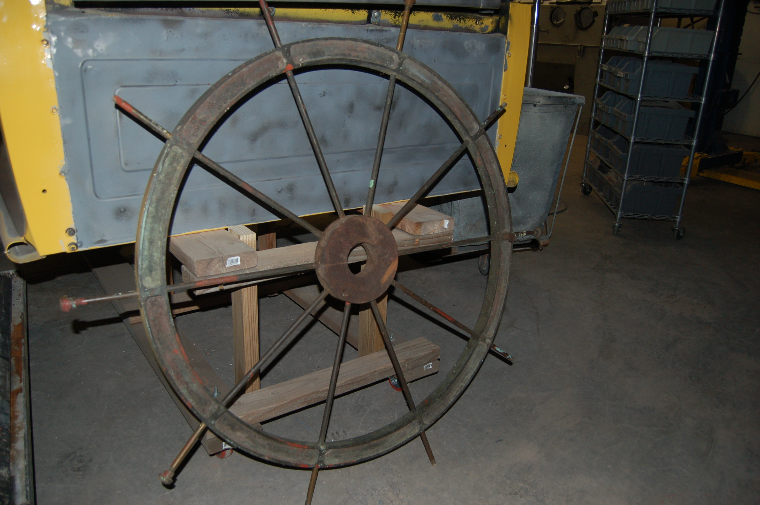 brass vintage ship wheel