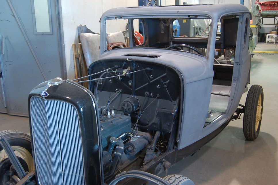 1934 Ford paint and surface preparation (media blasting) at American Dry Stripping