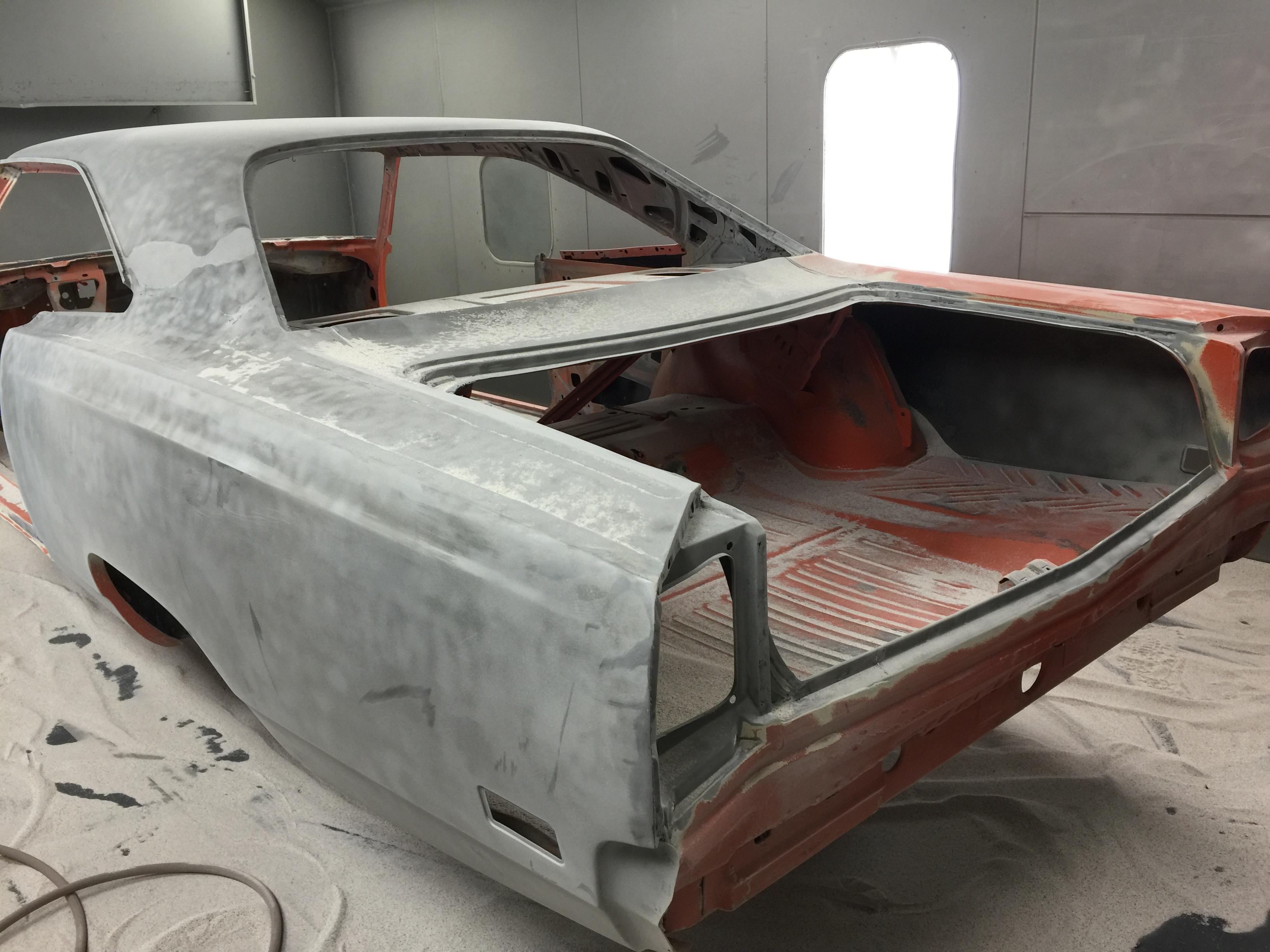 Media Blasting (sandblasting) a 1969 Roadrunner