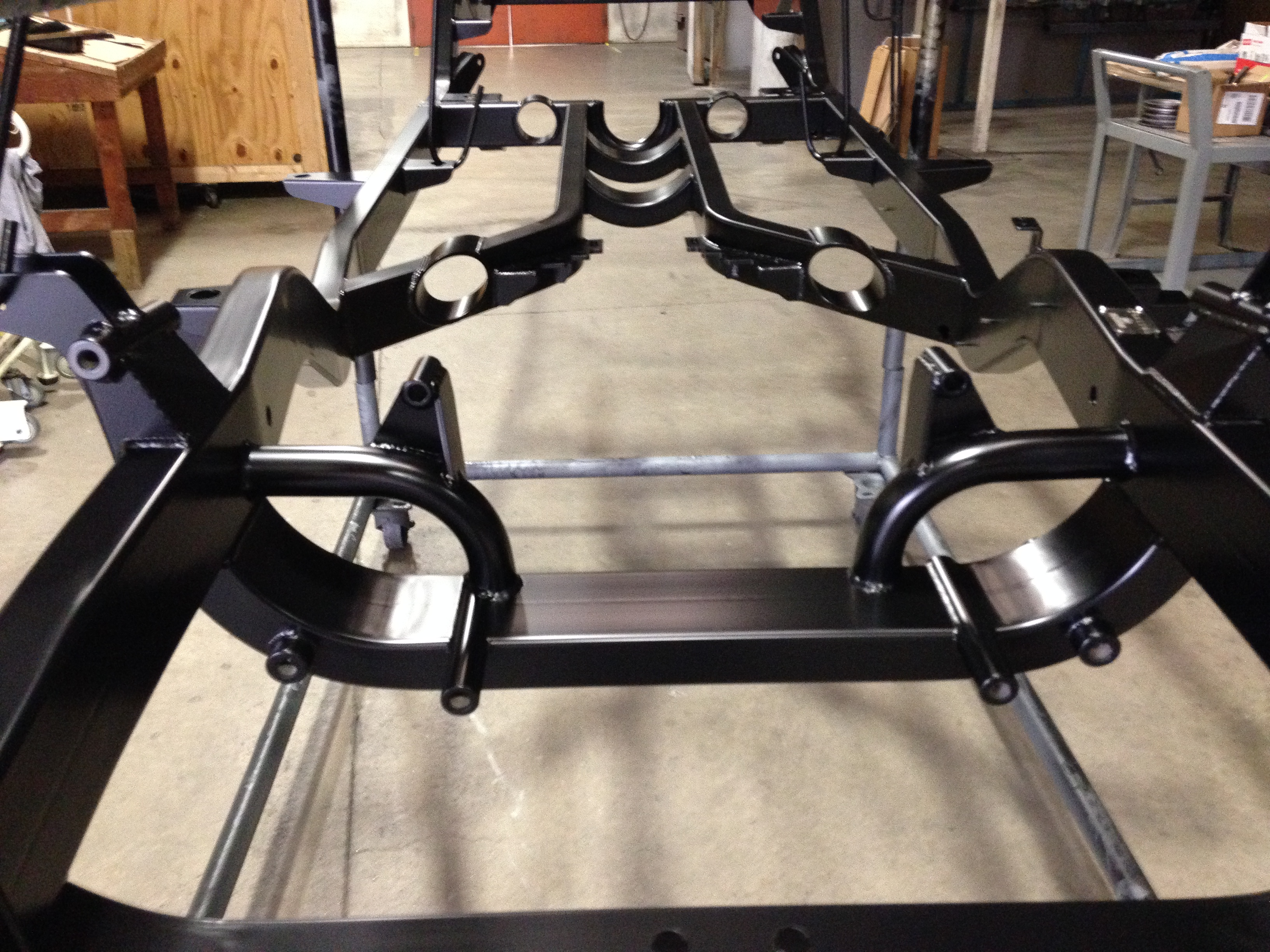 1955 Chevy Frame Restored Powder Coating Xtreme Temperature coatings CT