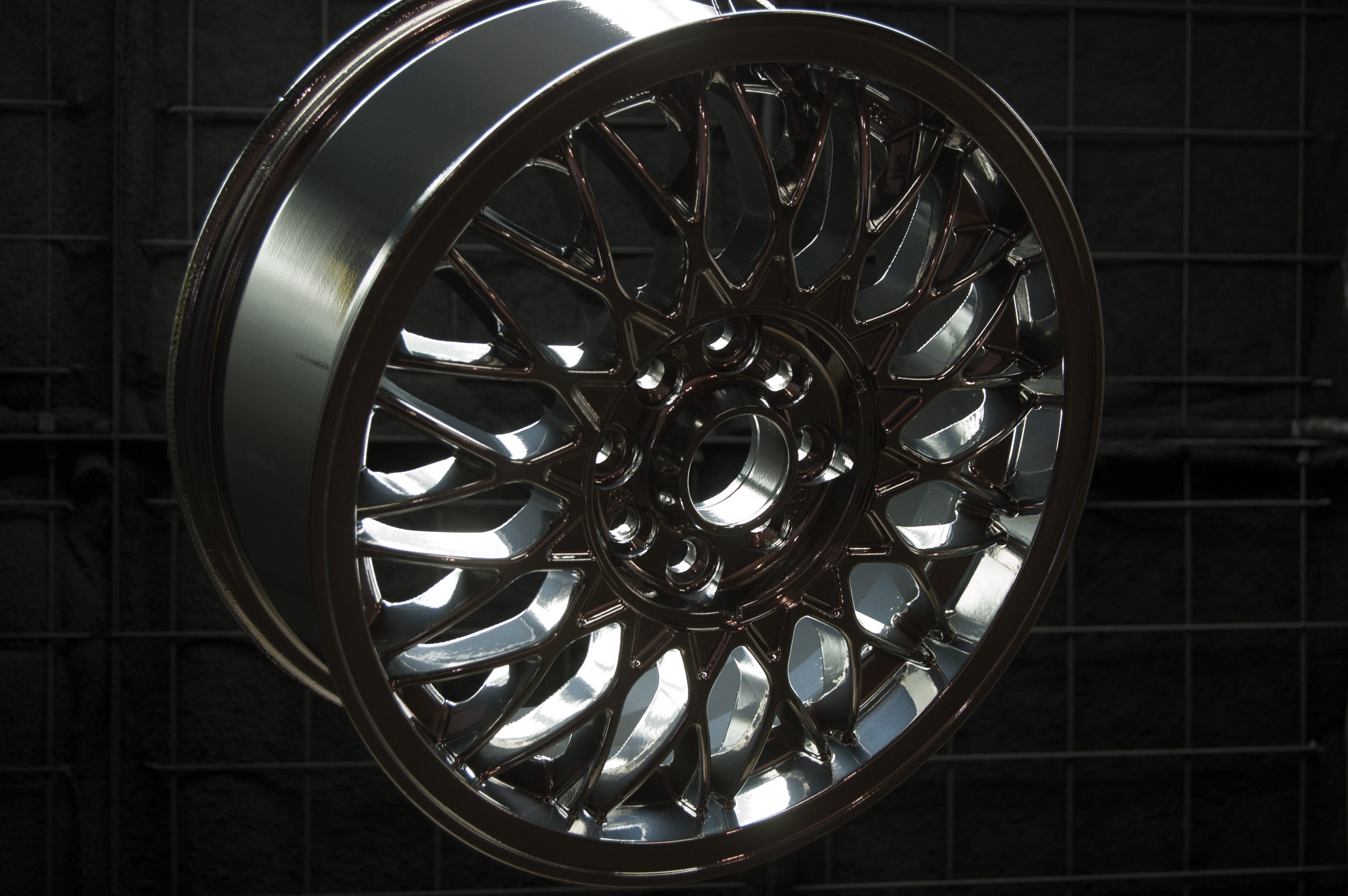 Chrome Powder Coating on Wheel Xtreme Temperature Coatings CT