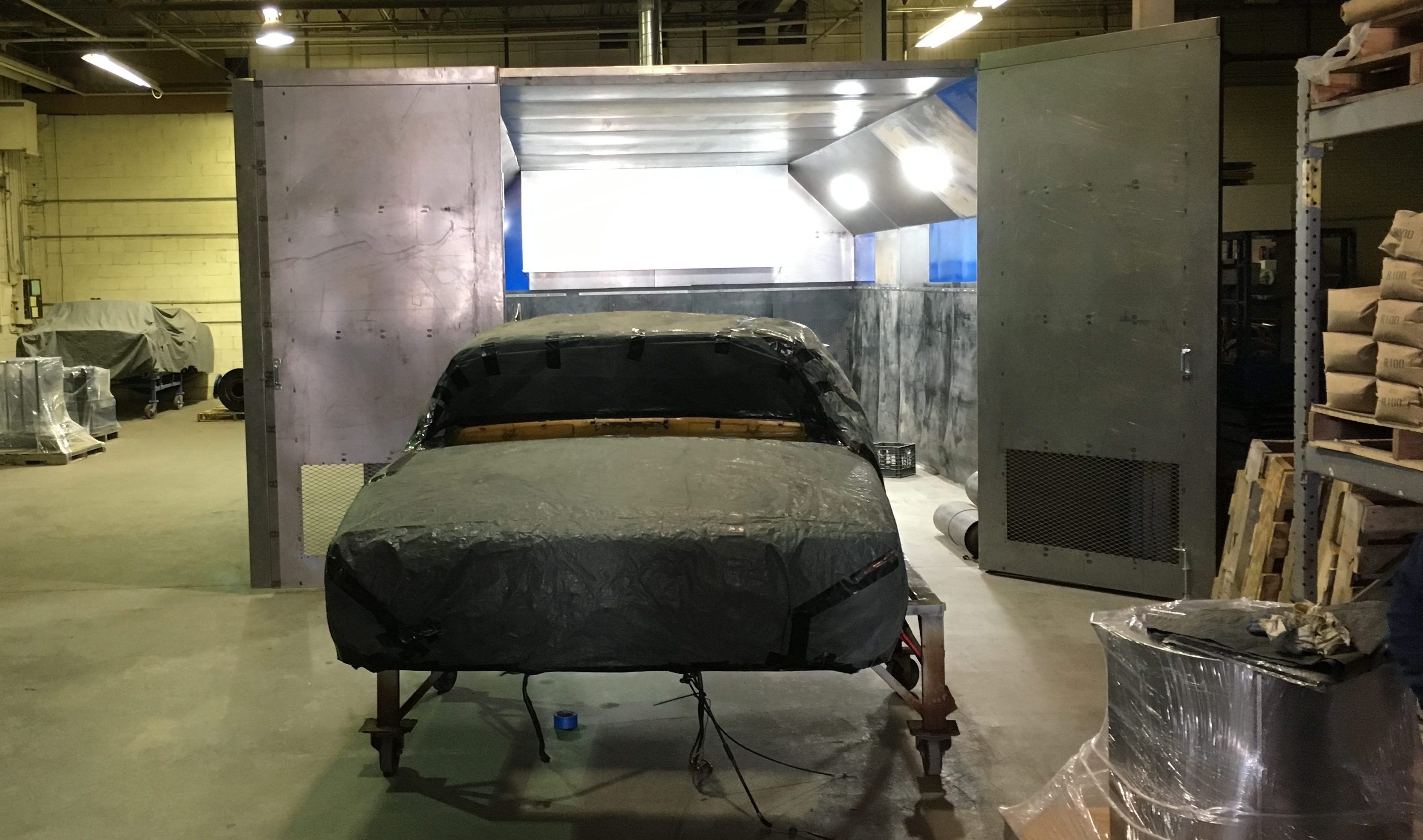 Dedicated automotive blast booth at American Dry Stripping