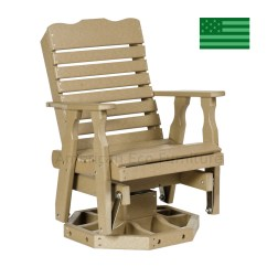 Newport Rocking Chair Dining With Arms Beach Calla Swivel Glider Made In Usa American Eco Poly
