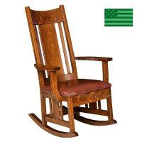 Amish Colebrook Rocking Chair with Upholstered Seat