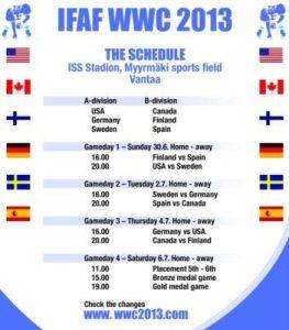 WWC 2013 Schedue