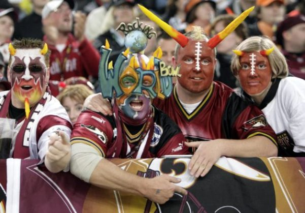 German American football fans