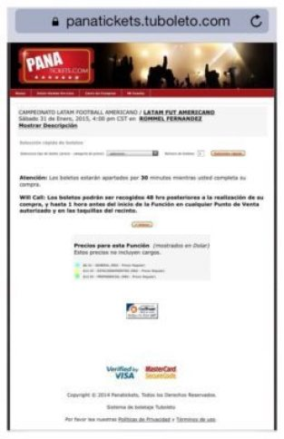 Panama Ticket Info Image