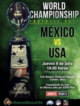 IFAF WCs - Mexico-USA poster