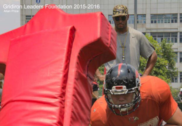 Image 12 – Darien coaching Defensive Linemen