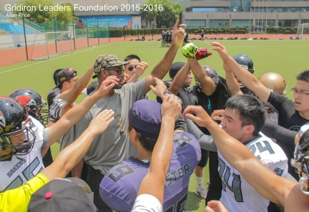 Image 13 – Darien breaking the huddle at the end