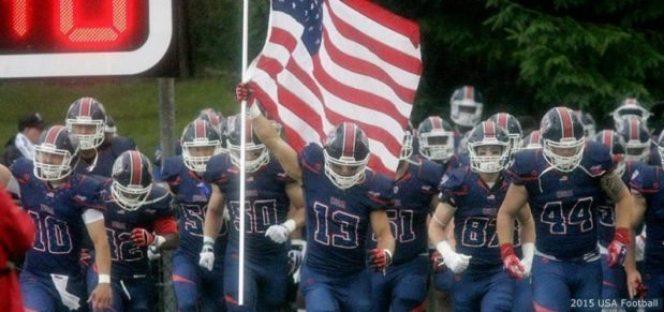USA Football - team entrance