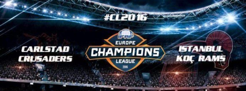 IFAF Europe - CL 2016 - Crusaders-Rams banner