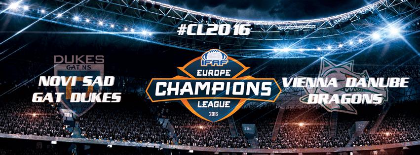 IFAF Europe - CL 2016 - Novi Sad - Danube banner