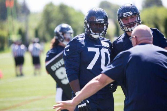 NFL - Seahawks - Rees Odhiambo - seattlepi photo