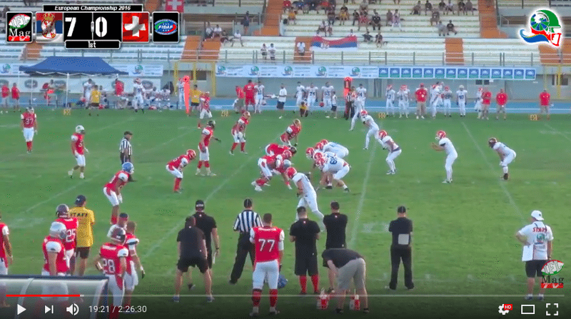 IFAF Europe - 2016 Qualifying tournament - Italy-Serbia - action3