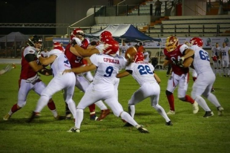 IFAF Europe - 2016 Qualifying tournament - Serbia-Switzerland action.2