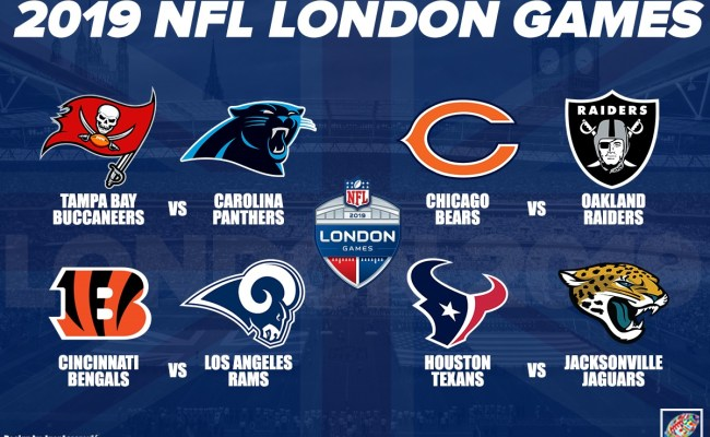 Nfl Announces 4 London Games 1 Game In Mexico City
