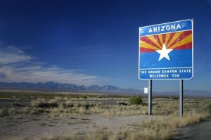 welcome to arizona sign