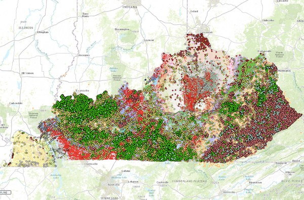 Interactive map of Kentuckys geology and natural