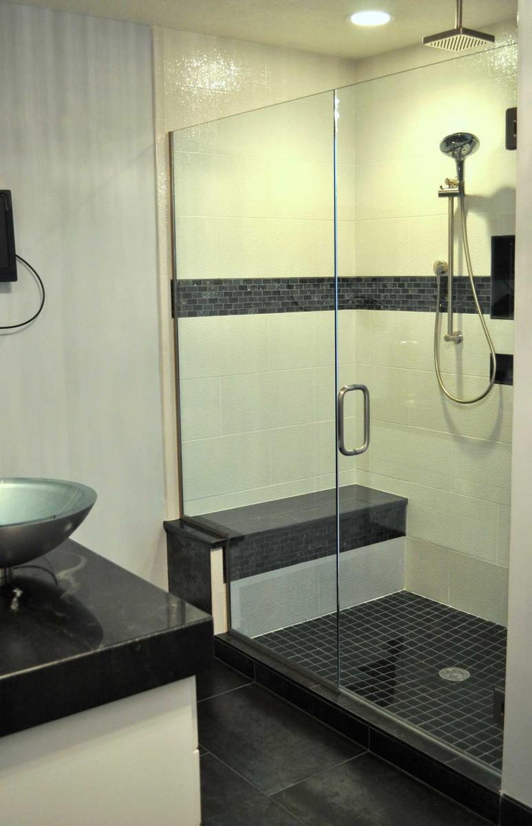 Alcove Shower  American Mirror  Glass
