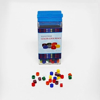 Silicone Color Code Instrument Rings - 60/ Box Assorted Colors