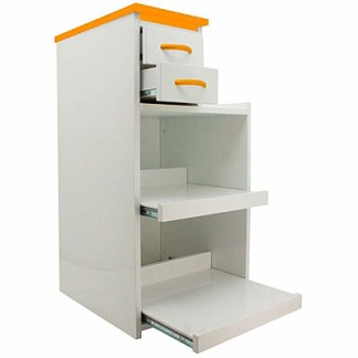 Surgical Utility Cabinet Cart With Multi-Functional Drawers & Wheels - Color Orange