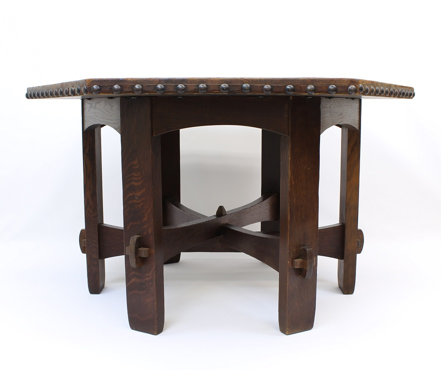 stickley sterling sofa table factory outlet long eaton arts crafts furniture american gold estate buyers gustav hexagonal no 625