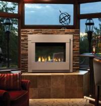 Modern Outdoor Gas Fireplace