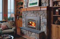 33 Elite Flush Arch Wood Fireplace Insert - American ...