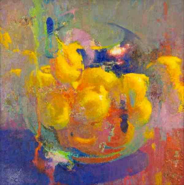 Lemon Hearth Bowl Impressionism Lemons Painting Oil American Legacy Fine Arts
