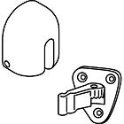Trimco 1283-6S Adjustre Wall Stop and Holder with Pivoting