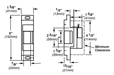 Von Duprin 6111 Electric Strike for Rim Exit Devices