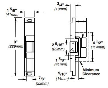Von Duprin 6112 Electric Strike for Rim Exit Devices