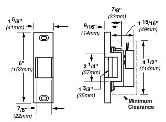 Von Duprin 6113 Electric Strike for Rim Exit Devices