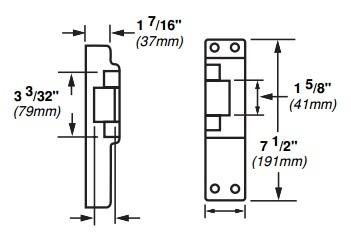 Von Duprin 6214-DS US32D Electric Strike w/ Dual Signal Switch