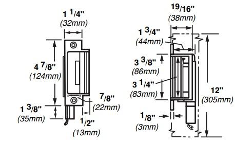 Von Duprin 6210 Electric Strike for Mortise Locks