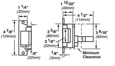 Von Duprin 6211WF-DS Electric Strike w/ Dual Signal Switch