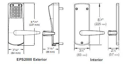 Kaba Eplex P2031-B-LL-626-41 PowerStar Electronic Lock