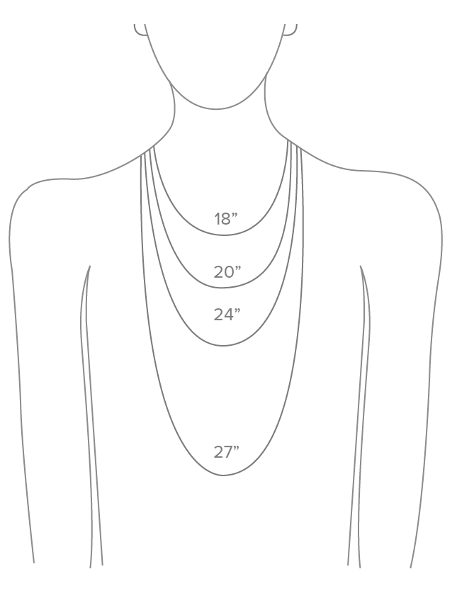 Necklace and Bracelet Size Guide