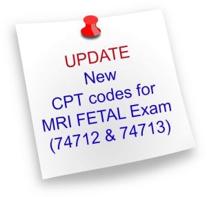 New CPT codes for MRI Fetal exam