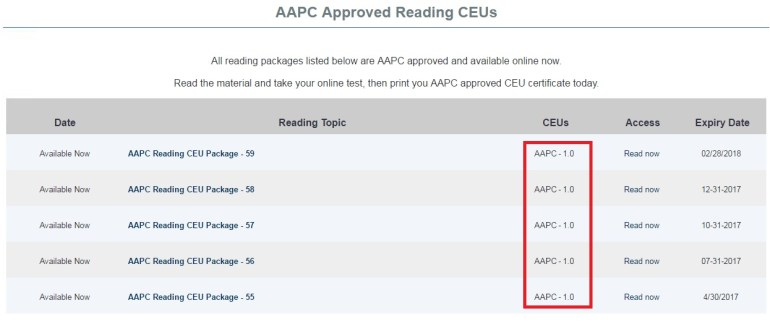 Get CEUs for AAPC and AHIMA for Life Long