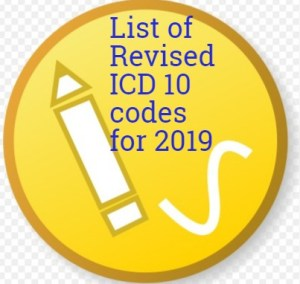 List of Revised ICD 10 code for 2019 - Medical Coding Guide