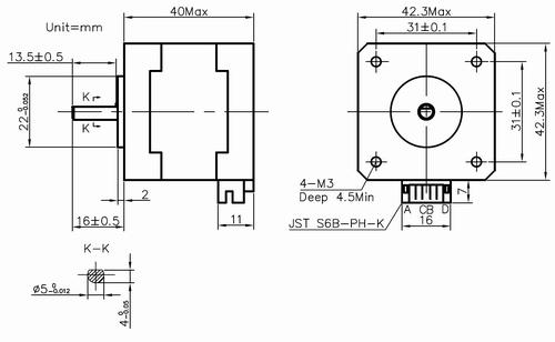 Leadshine 42HS02 2-Phase NEMA 17 Stepper Motor