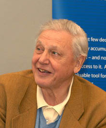 David Attenborough at the Arkive launch