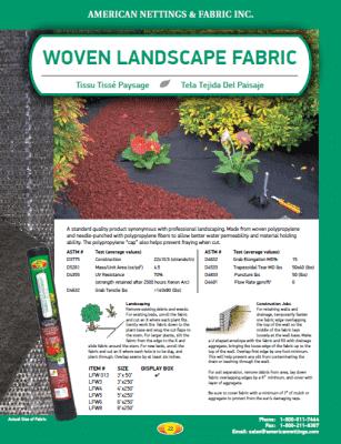 commercial landscape fabric